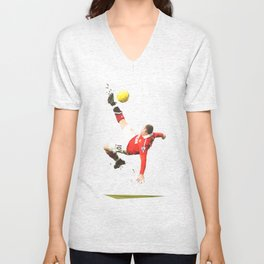 'Scissors' Rooney Unisex V-Neck