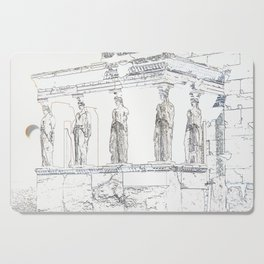 distorting the monuments #1 (Acropolis) Cutting Board