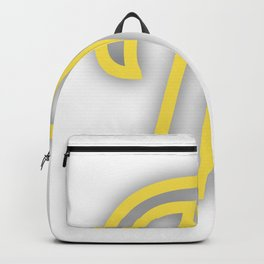 Letter T in Yellow Backpack