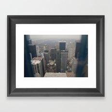 Skyline in Perspective Framed Art Print