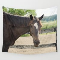 charlie Wall Tapestries featuring Charlie by Images by Nicole Simmons