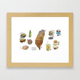 TAIWAN FOOD MAP Framed Art Print
