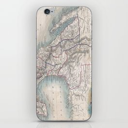 Vintage Map of Mexico (1851) iPhone Skin