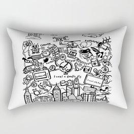 I want a doodle fly in Hong Kong Rectangular Pillow