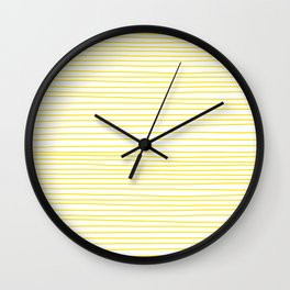 Yellow Lines dancing striped Wall Clock