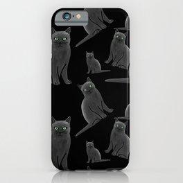 Russian Blue Cat iPhone Case