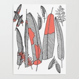 Eagle Feathers Poster