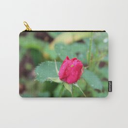 Little Green Bug on a Pink Rose Carry-All Pouch