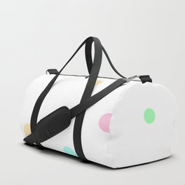 Floating Pastel Candies on White Duffle Bag
