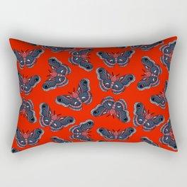 Cecropia Moth Pattern Rectangular Pillow