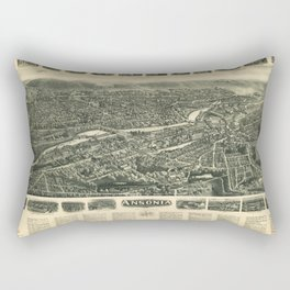 Aero view of Ansonia, Connecticut (1921) Rectangular Pillow