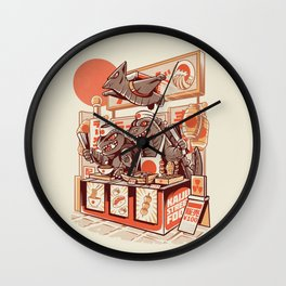 Kaiju street food Wall Clock