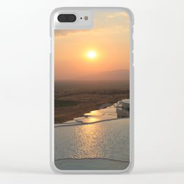 The white pools of Pamukkale, Turkey Clear iPhone Case