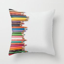 Colored pencil 10 Throw Pillow