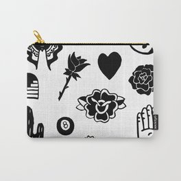 Stamp Print Carry-All Pouch