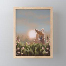 Maned Wolf at Sunset Framed Mini Art Print