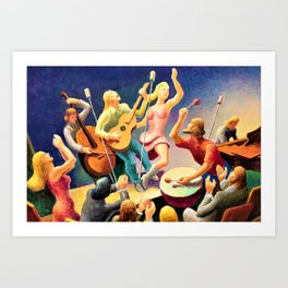 Classical Masterpiece 'Youth Music' by Thomas Hart Benton Art Print