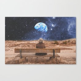 PLANET EARTH, THE UNIVERSE AND I Canvas Print