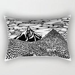Mountain Block Print Rectangular Pillow