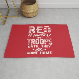 RED Friday Supporting Our Troops Military Rug