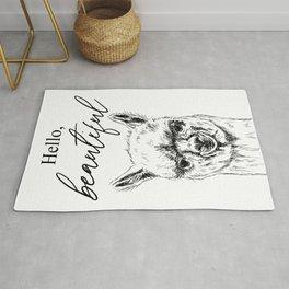 Hello, Beautiful Alpaca Sketch Rug