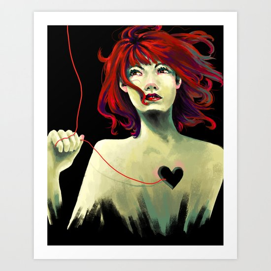Heart String Art Print