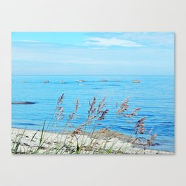 Circle of Rocks and the Tall Grass Canvas Print