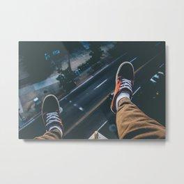 Rooftop Vans Metal Print