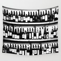 Wine Bottles Wall Tapestry