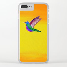 Hummingbird Sunset Clear iPhone Case