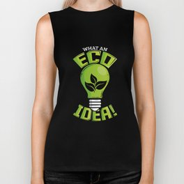 What An Eco Idea Funny Earth Day Biker Tank