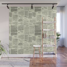 George Washington's Letters // Parchment Wall Mural