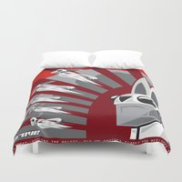 propaganda Duvet Covers featuring The Drove Propaganda  by The Drove