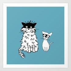 Ninja cats Art Print