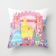 London Towers Throw Pillow
