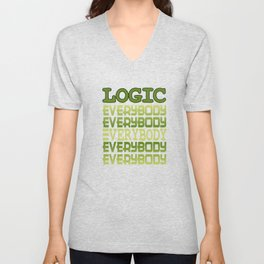 Cool awesome and green tee design for logic fanatics out there! Makes a nice gift!  Unisex V-Neck