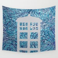 tardis Wall Tapestries featuring Tardis by Sahara Novotny