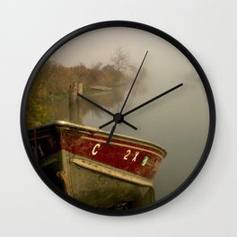 Boat on the Bypass Wall Clock