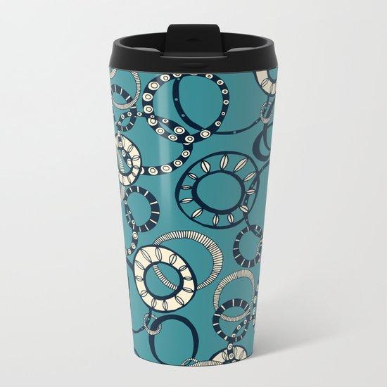Honolulu hoopla blue Metal Travel Mug