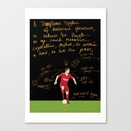 THE PASSMASTER GENERAL - Xabi Alonso Canvas Print