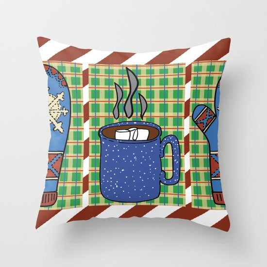 Cozy Christmas! Throw Pillow
