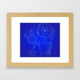 BluePrint: Gears Framed Art Print