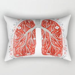 folky lungs Rectangular Pillow