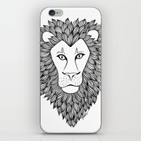 leo iPhone & iPod Skins featuring Leo by Julie Erin Designs