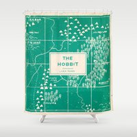 the hobbit Shower Curtains featuring The Hobbit by Buzz Studios