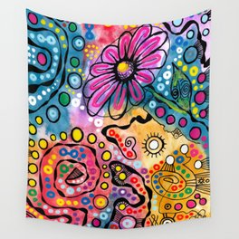 """Tie-Dye Wonderland"" Wall Tapestry"