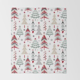 Fairy Christmas forest. Throw Blanket