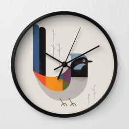 Superb Fairywren Wall Clock