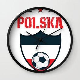 Poland 2018 World Football 2018 - Poland Flag Wall Clock