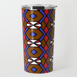 Honeycomb Belt Buckle Fastener Pattern Travel Mug